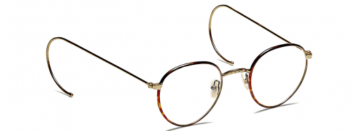 Moscot Nachus 49 Havana/Antique Gold
