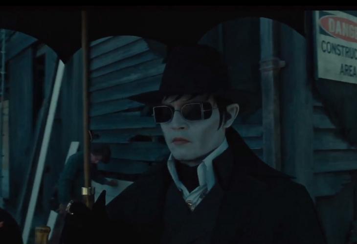 Gafas de sol de Johnny Depp en la película Sombras tenebrosas