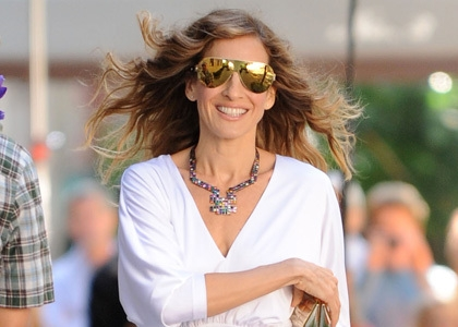Sarah Jessica Parker on first day of filming Sex and the City in NYC