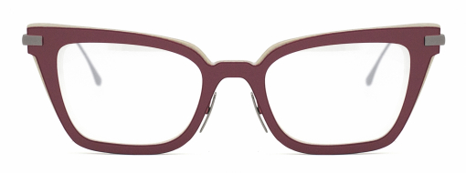 Nina Mur eyewear Maiko Ancient Red front