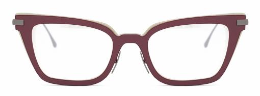 Nina Mur eyewear Maiko Ancient Red front