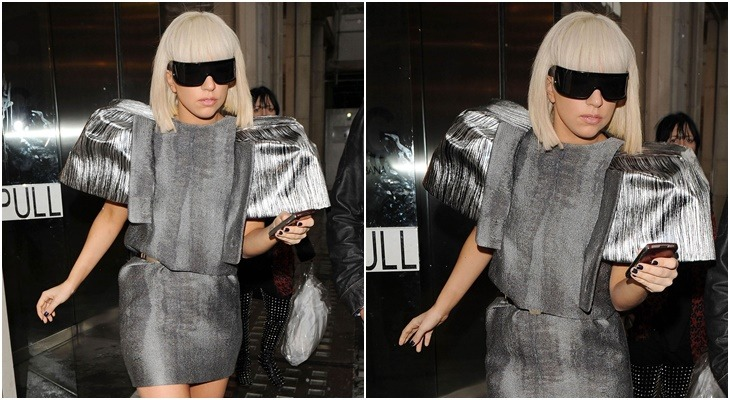 Famous glasses, Lady Gaga with Goldsmith glasses